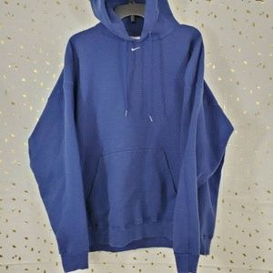 VTG Nike Hoodie Hooded Swearshirt Blue Mens XXL